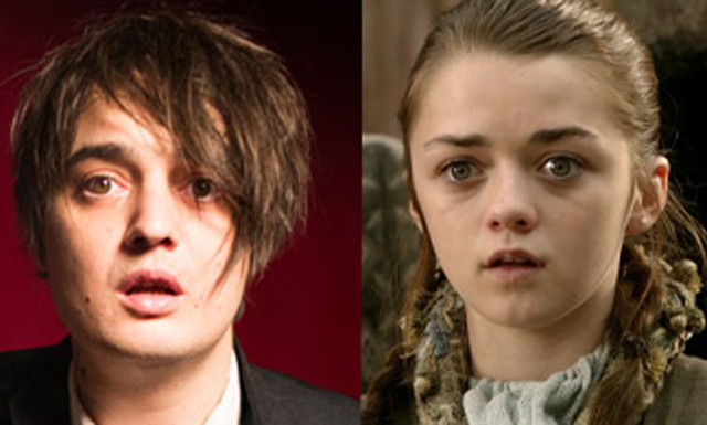 Arya Stark is Peter Doherty - Peter Doherty is Arya Stark