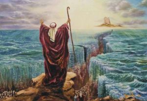 Moses and his rod