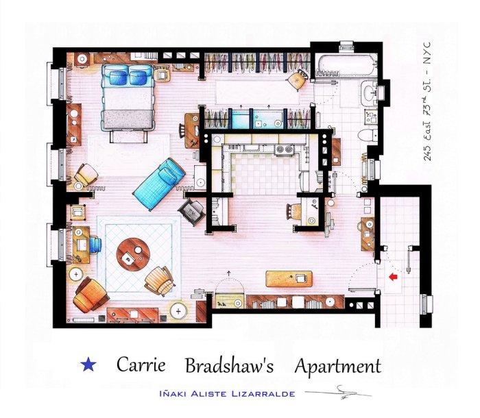 Και φυσικά, το διαμέρισμα της Carrie Bradshaw από το Sex and the City