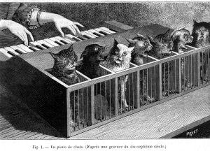 Όταν έπεσε πάνω του ένα πιάνο με ουρές, σκέφτηκε το Καβαφικόν: Είν' η γαλή αντιπαθής εις τους κοινούς ανθρώπους. Μαγνητική και μυστική, τον επιπόλαιόν των κουράζει νουν·  και τους χαρίεντάς της τρόπους δεν εκτιμούν.