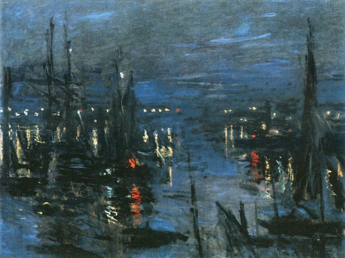Claude Monet, The Port of Le Havre Night Effect