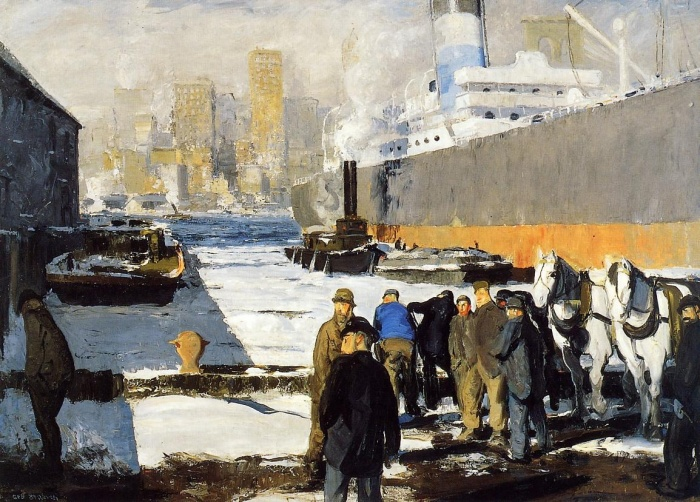 George Bellows, Men of the docks