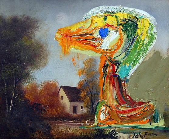Asger Jorn/ Le canard inquiétant